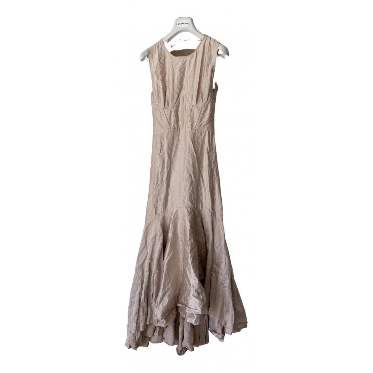 Brock Collection \N Kleid in  Rosa Seide