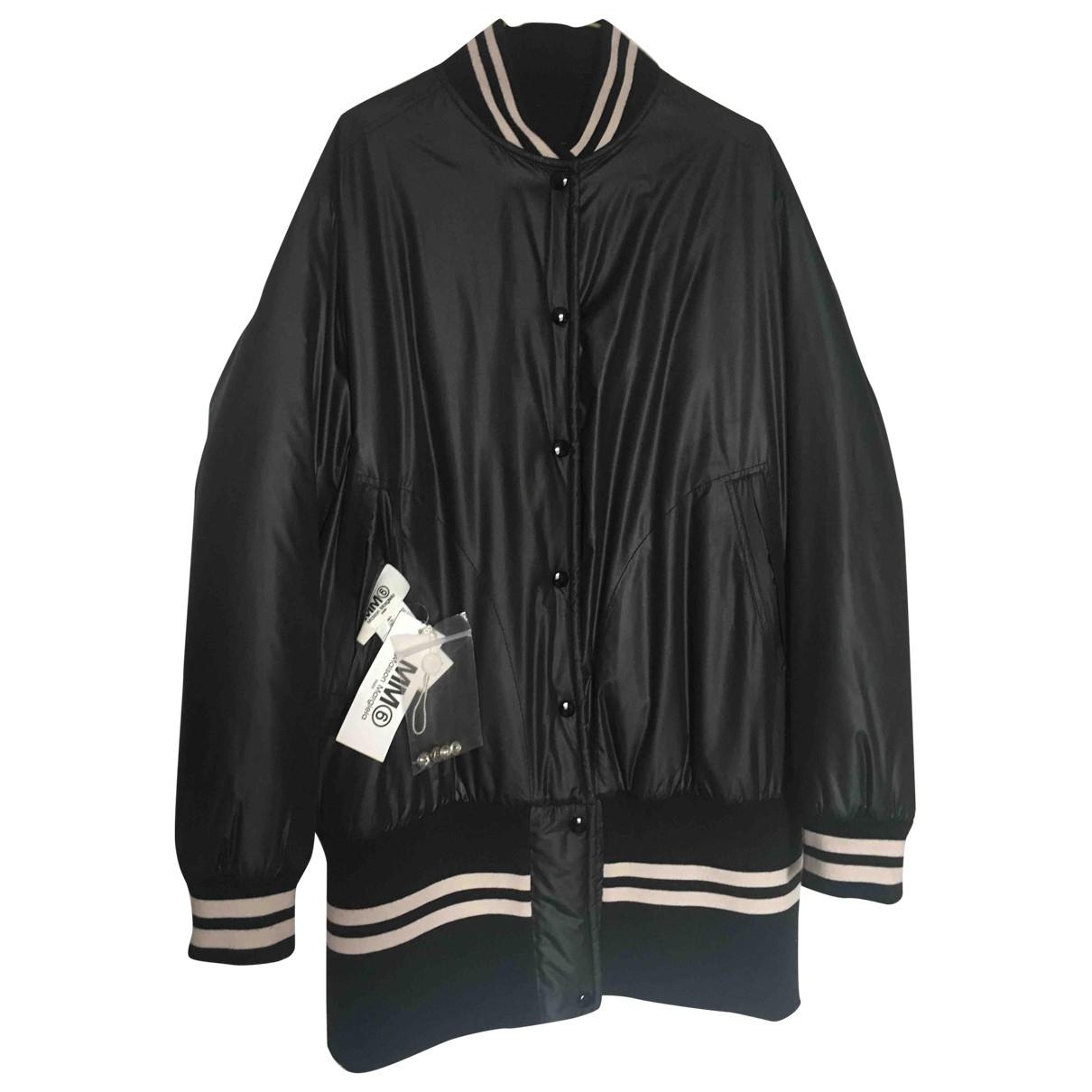 Mm6 N Black jacket for Women 42 IT