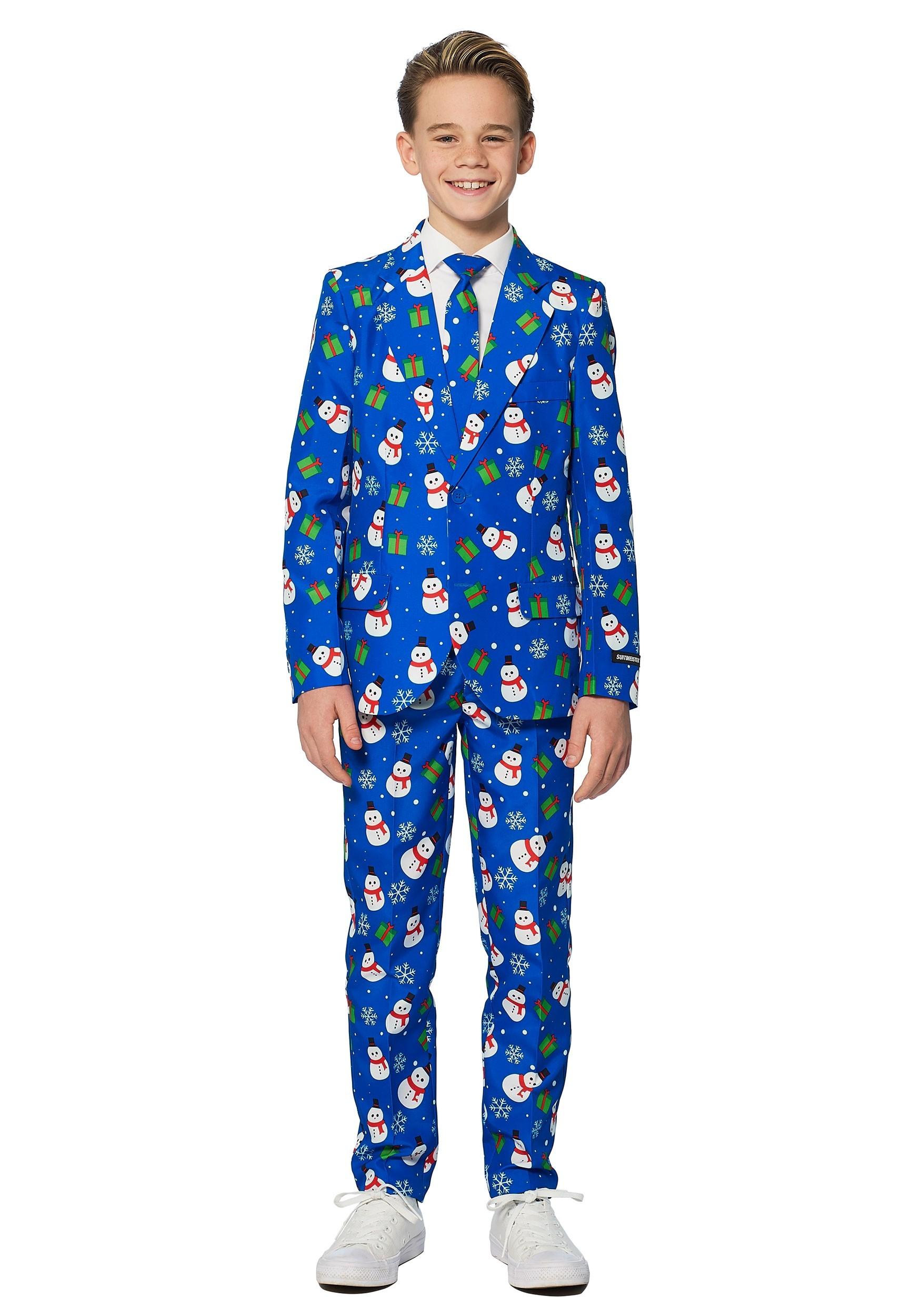 Blue Snowman Boy's Suitmeister Suit