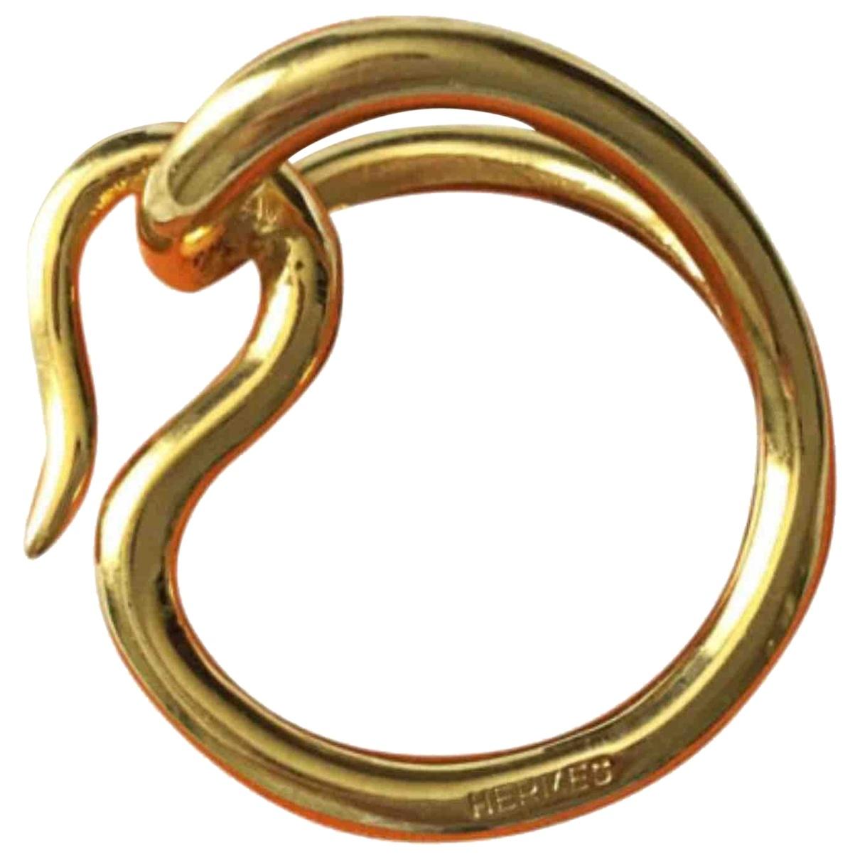 Hermès Anneau de Foulard Gold scarf for Women \N