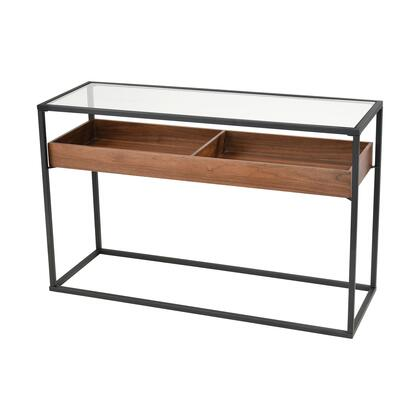 1203-008 Rubric Console Table  In Black