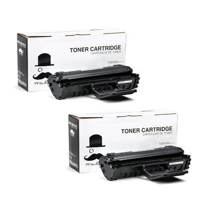 Compatible Samsung ML-2010D3 Black Toner Cartridge High Yield - Moustache - 2/Pack