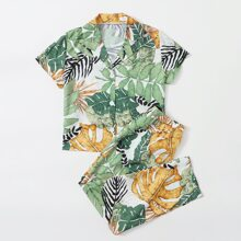 Girls Tropical Print PJ Set