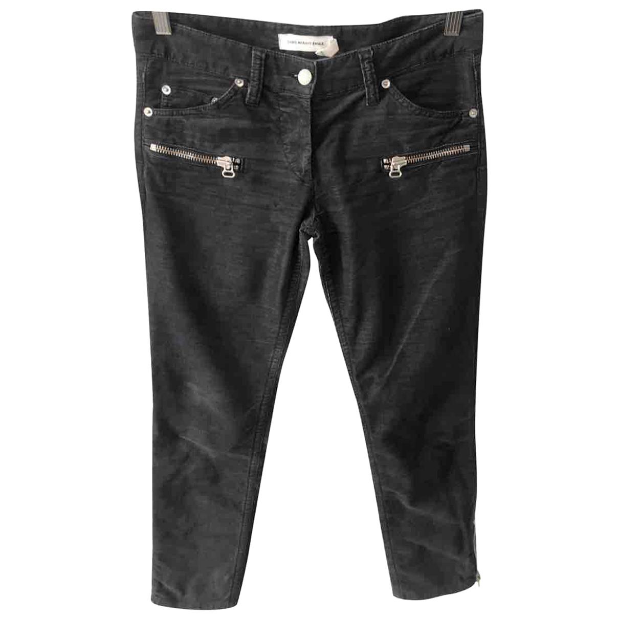 Isabel Marant Etoile \N Grey Velvet Trousers for Women 36 FR