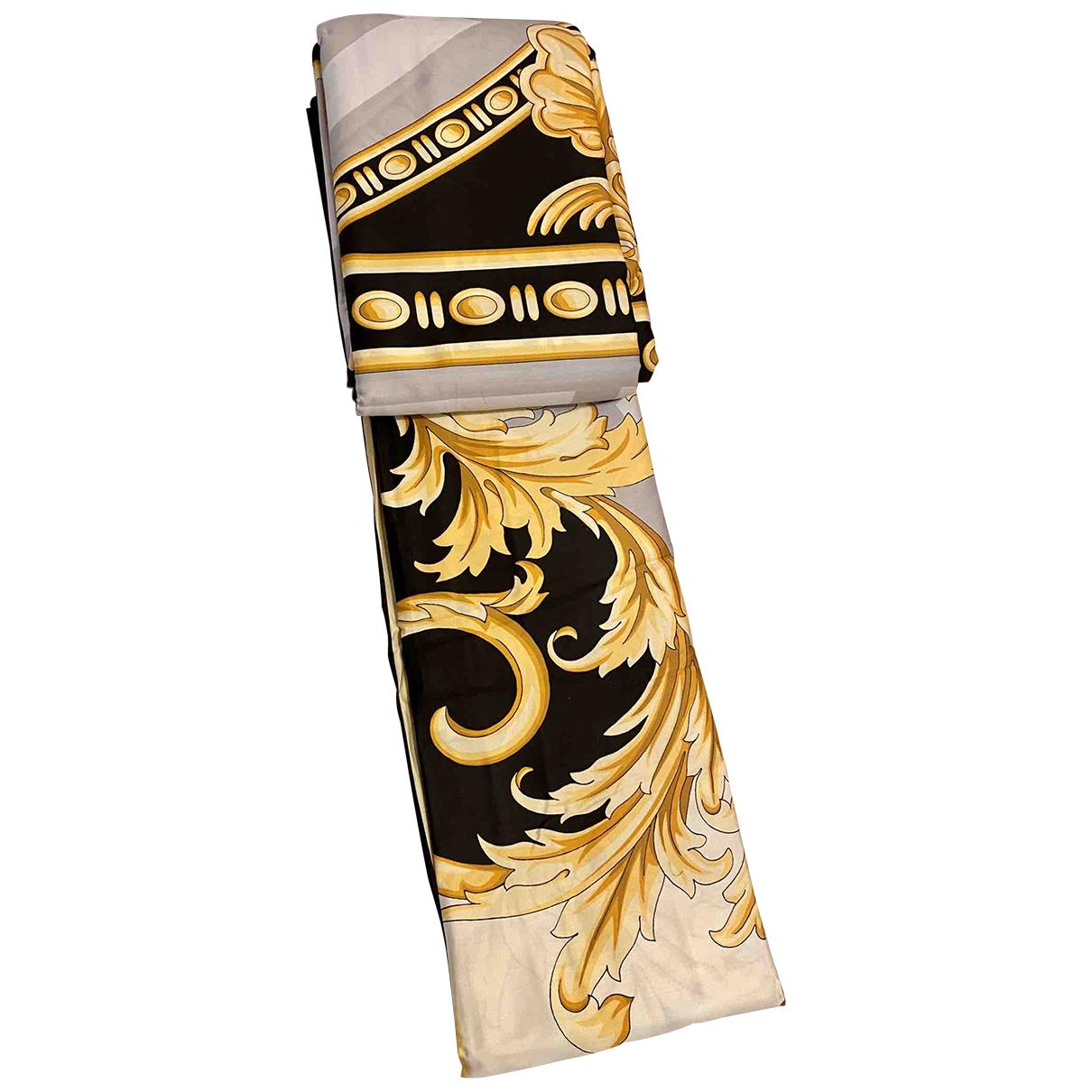 Versace \N Heimtextilien in  Gold Baumwolle