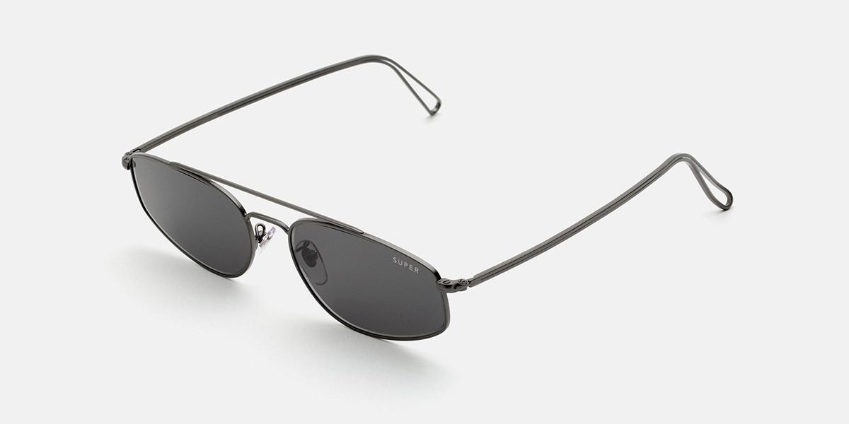 Retrosuperfuture TEMA BLACK I80X WX8 Men's Sunglasses Grey Size 59