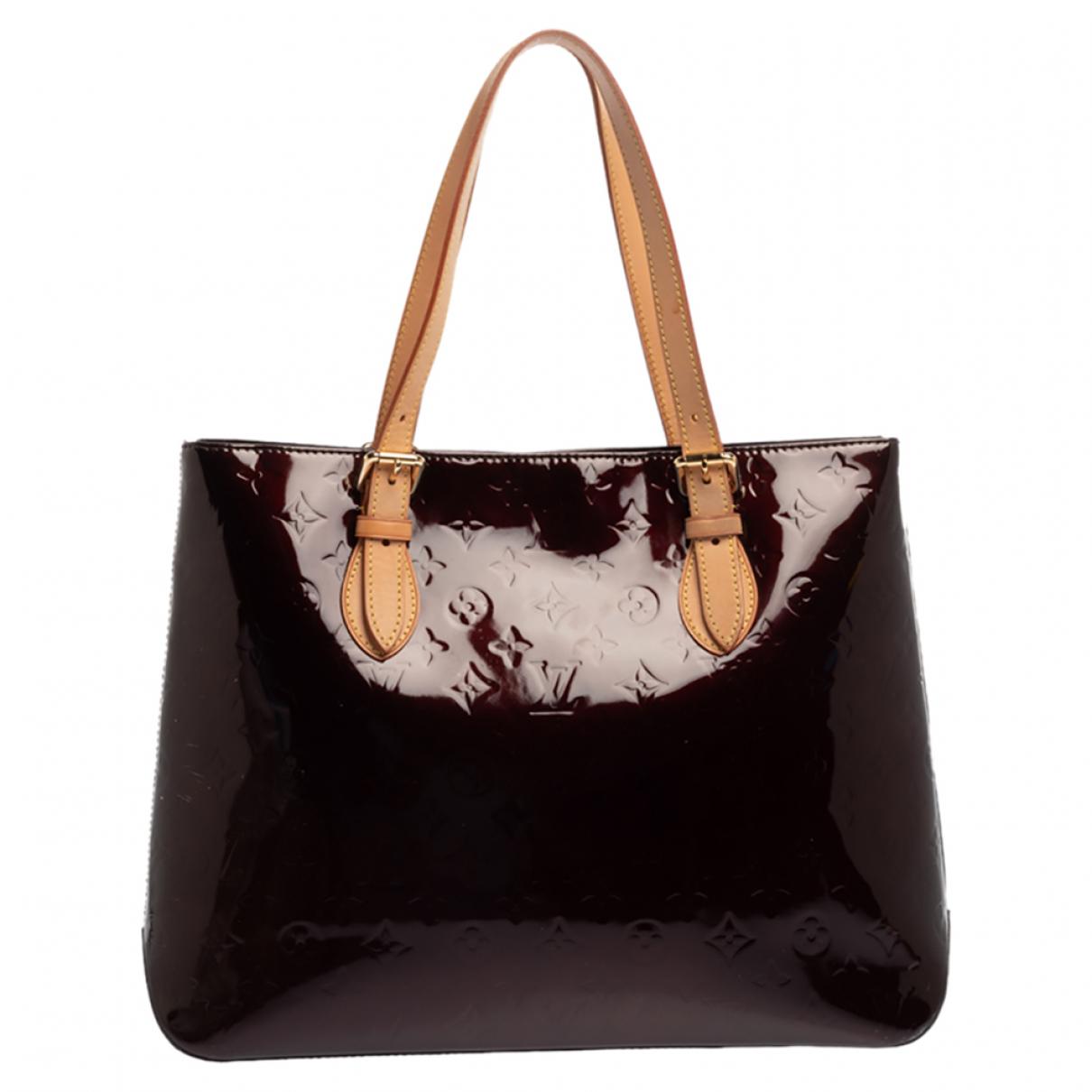 Louis Vuitton - Sac a main Brentwood pour femme en cuir verni - bordeaux
