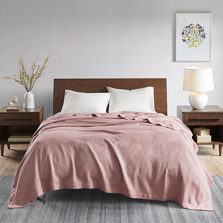 Madison Park Egyptian Cotton Blanket, One Size , Pink