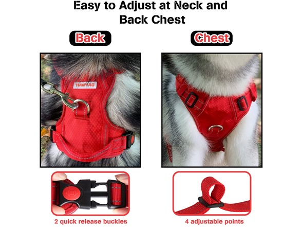 Tianyao Large No Pull Reflective Dog Harness