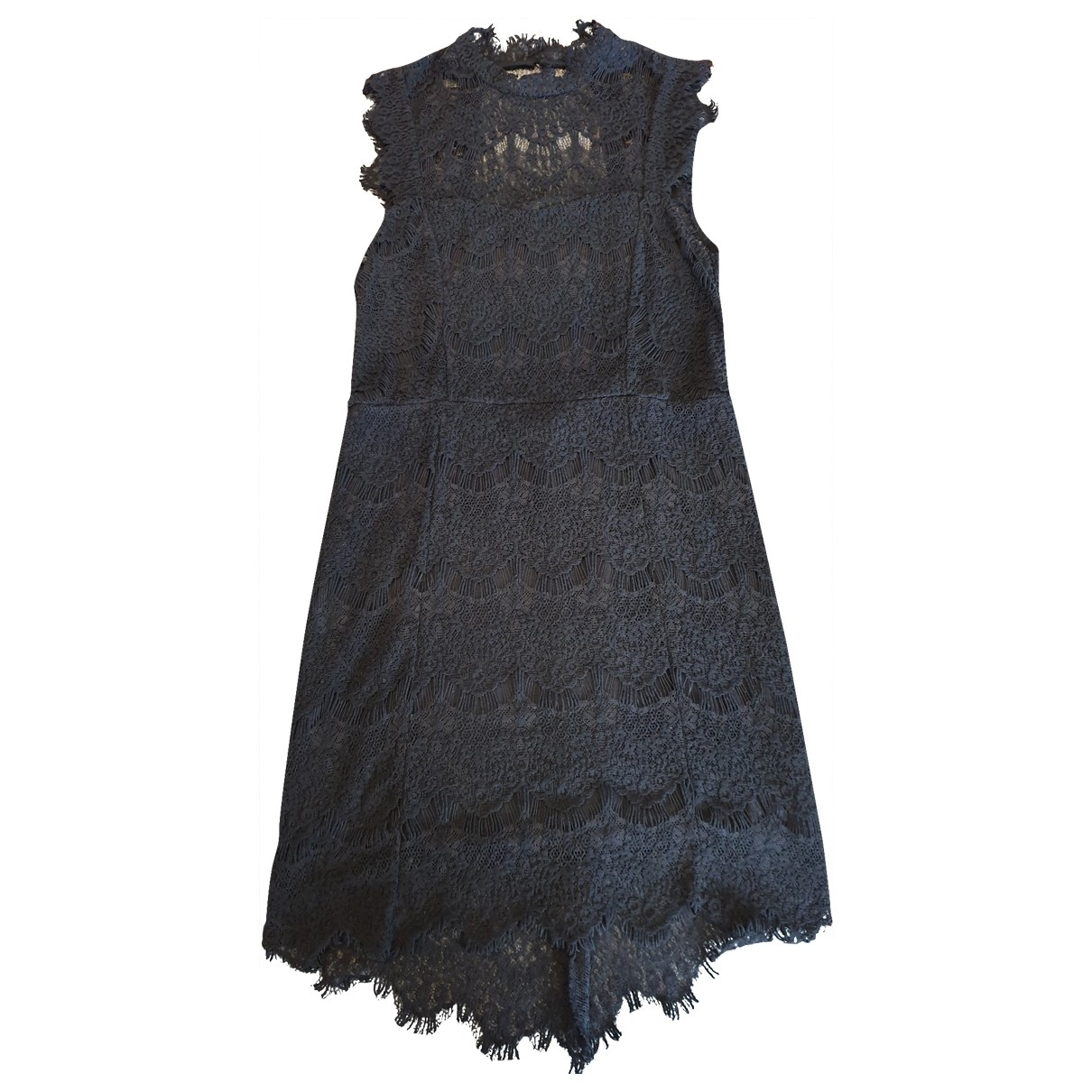 Free People \N Black Cotton dress for Women 8 US