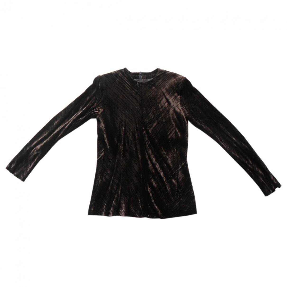 Yves Saint Laurent \N Brown Velvet  top for Women 40 FR