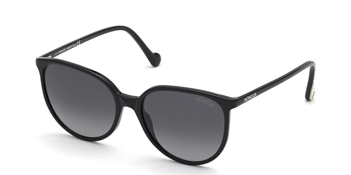 Moncler ML0177 01D Women's Sunglasses Black Size 56