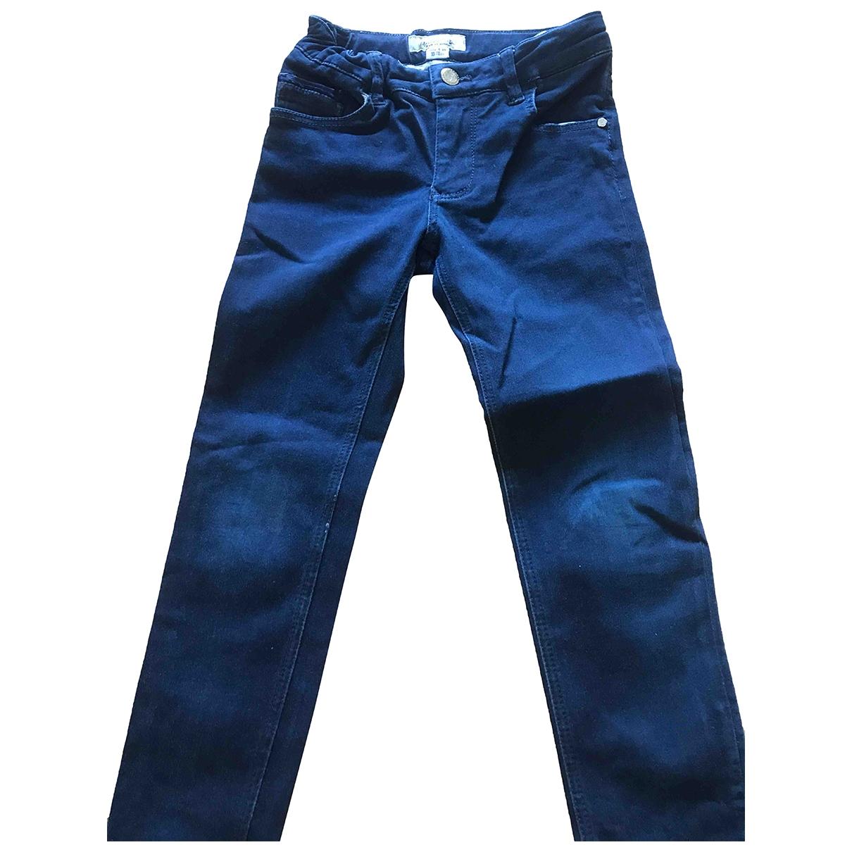 Massimo Dutti - Pantalon   pour enfant en coton - marine