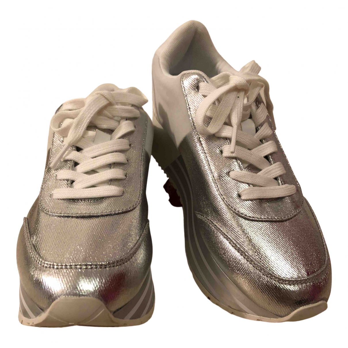 Calvin Klein \N Silver Cloth Trainers for Women 38 EU