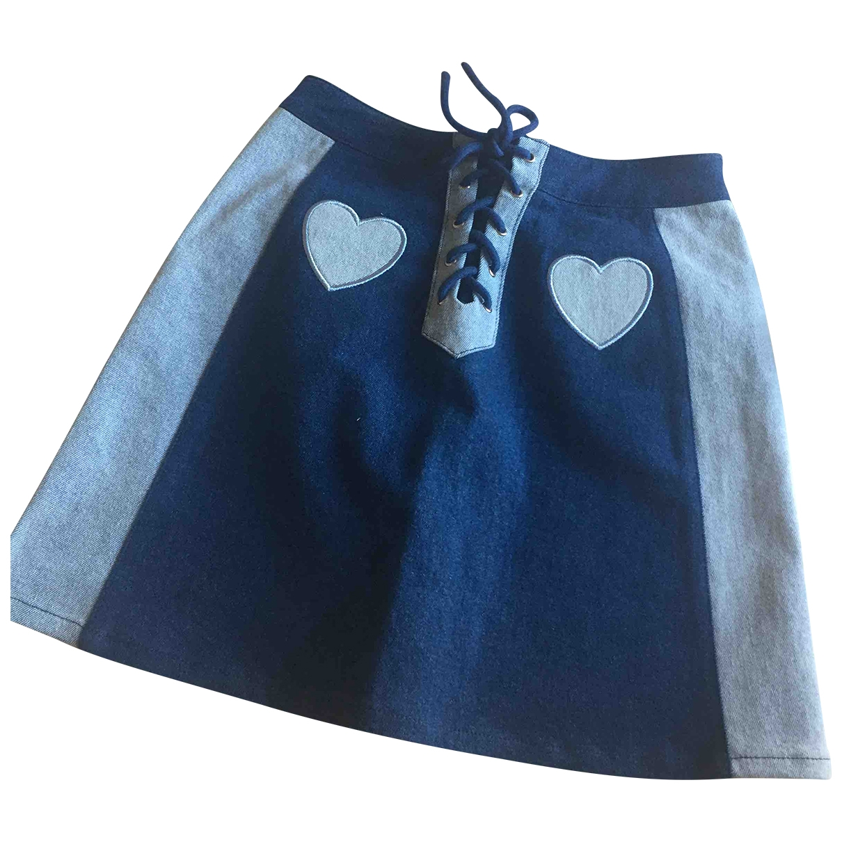 Lazy Oaf \N Blue Cotton - elasthane skirt for Women 40 IT