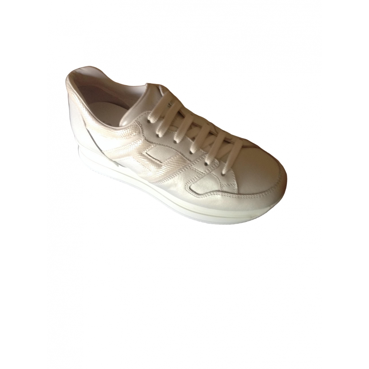 Hogan \N White Leather Trainers for Women 36.5 IT