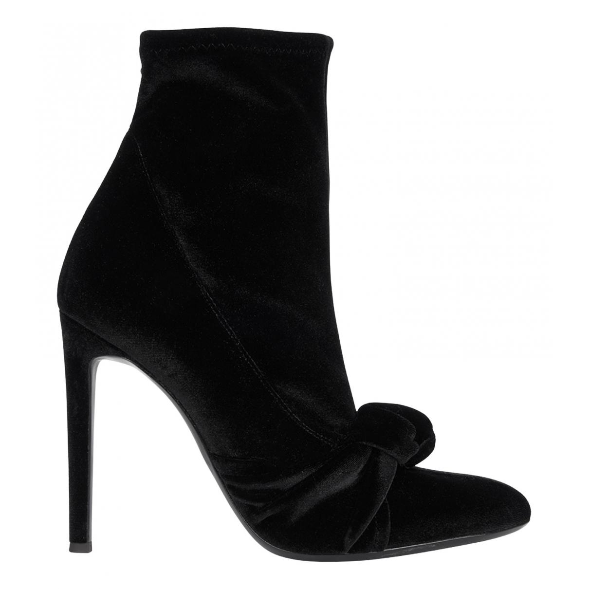 Giuseppe Zanotti - Boots   pour femme en velours - noir
