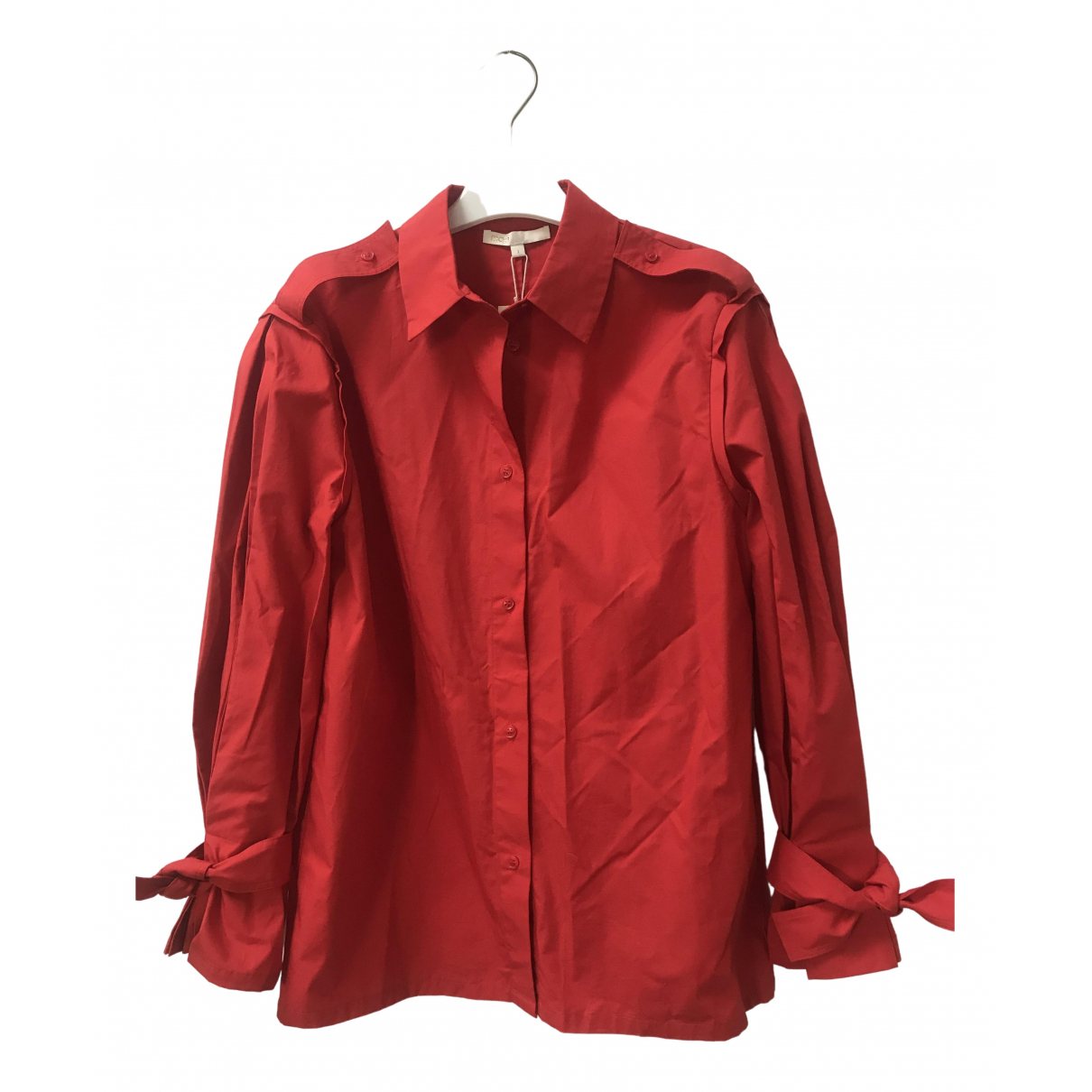 Maje \N Red Cotton  top for Women 36 FR