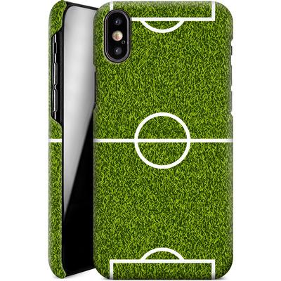 Apple iPhone X Smartphone Huelle - Soccer Field von caseable Designs