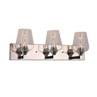 8.27 in.W Metal 3-Light Wall Sconce (Clear)