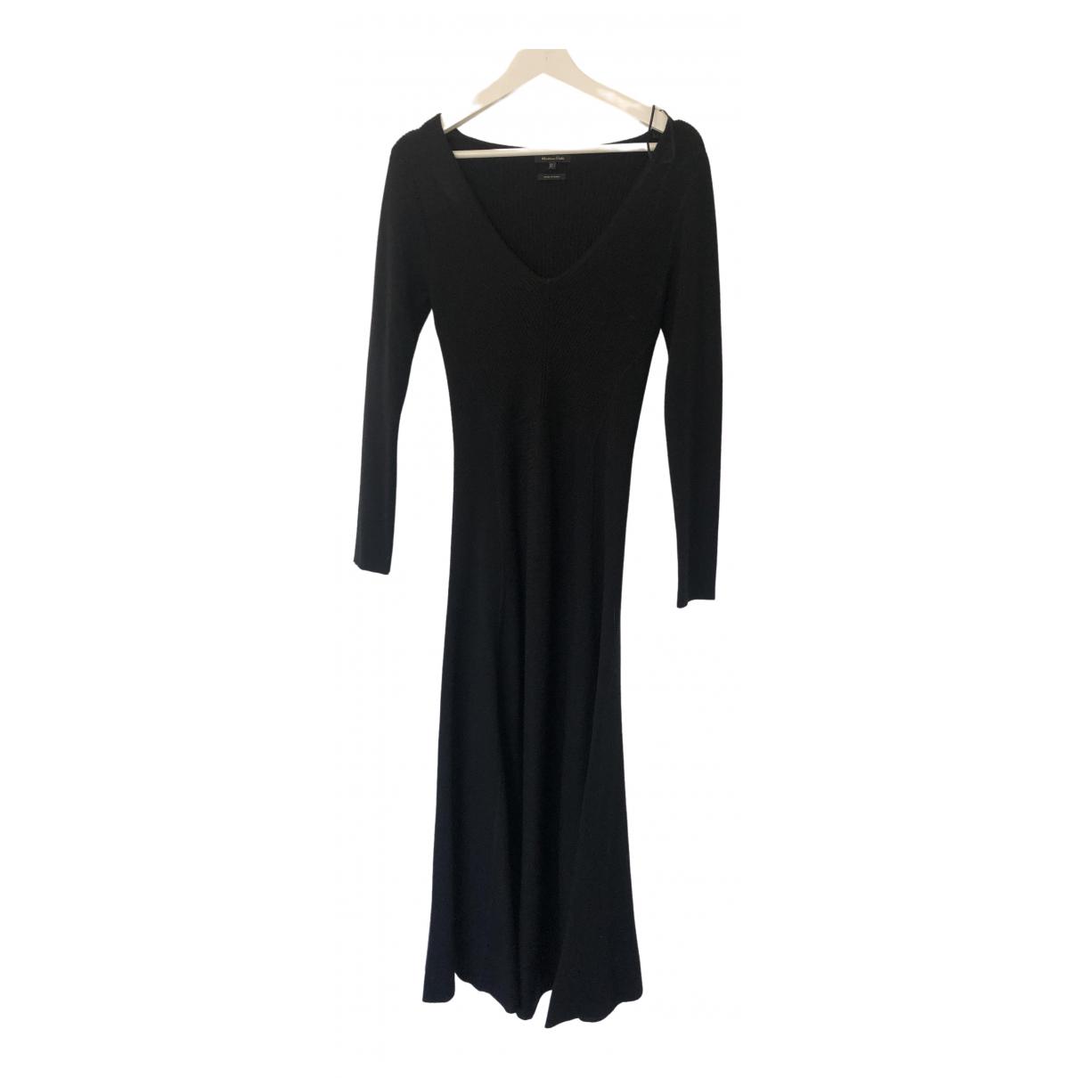 Massimo Dutti \N Kleid in  Schwarz Wolle
