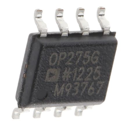 Analog Devices OP275GSZ , Op Amp, 9MHz, 8-Pin SOIC
