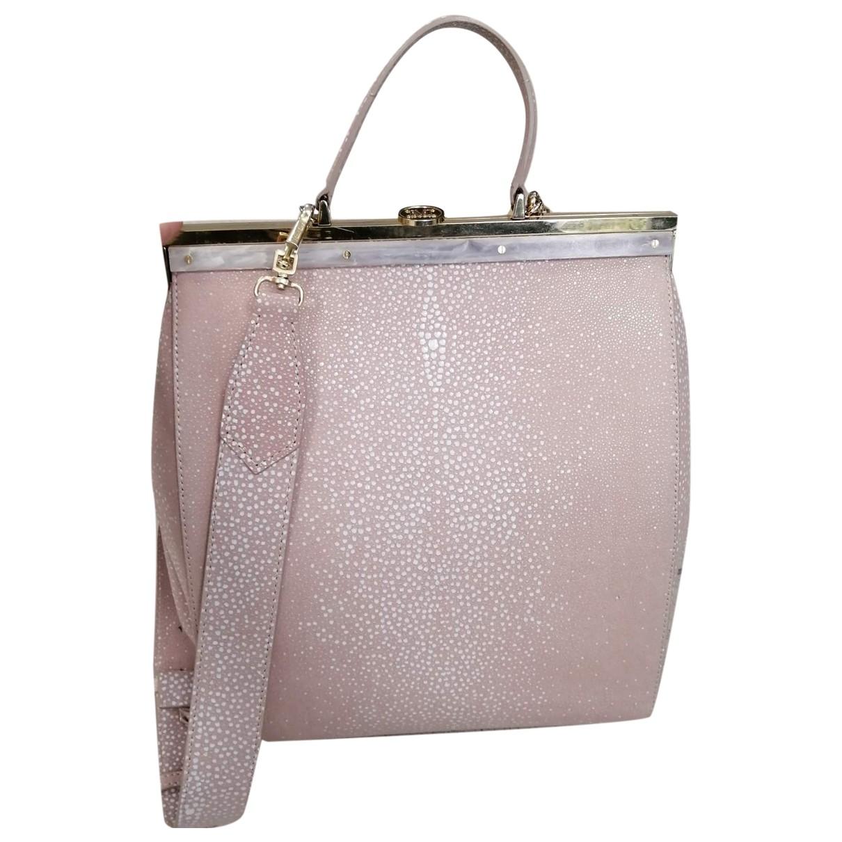 Max Mara \N Pink Suede handbag for Women \N