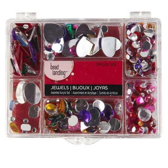 Bead Landing™ Assorted Acrylic Jewel Set, Multi | Michaels®