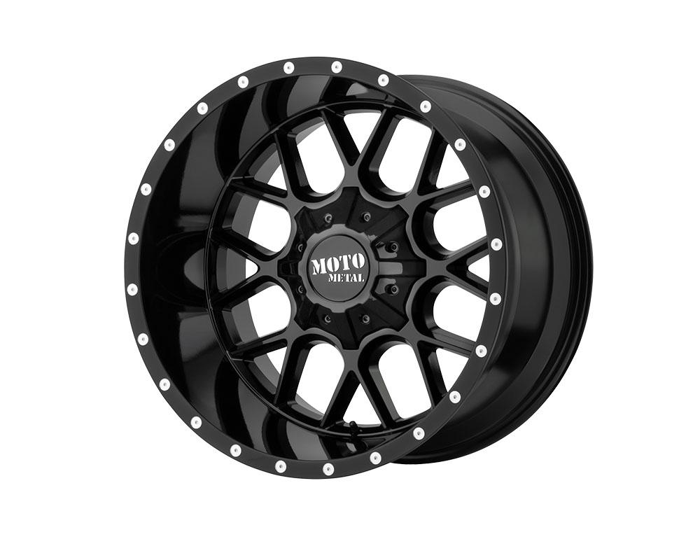 Moto Metal MO986212803A44N MO986 Siege Wheel 20x12 8x8x165.1 -44mm Gloss Black