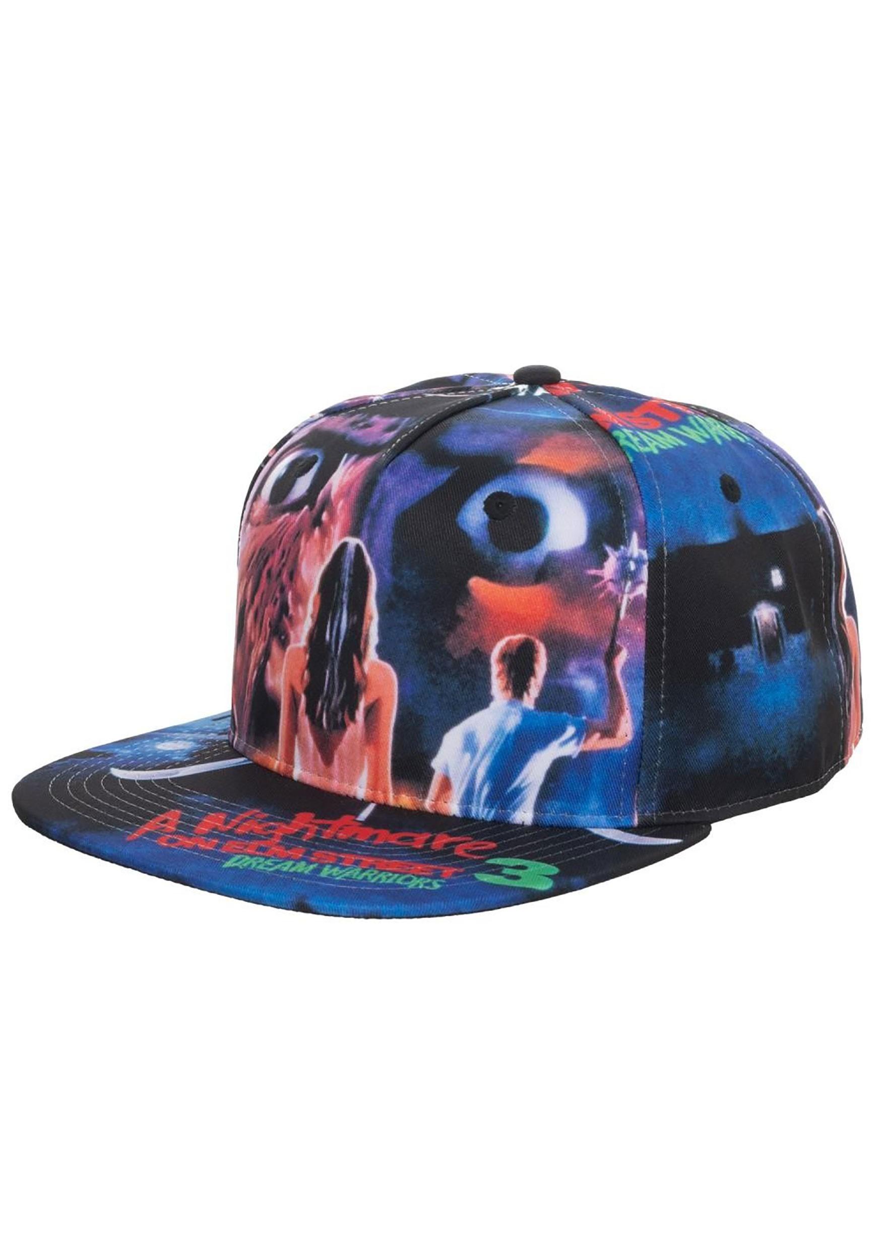 Adult Nightmare on Elm Street Poster Snapback Cap