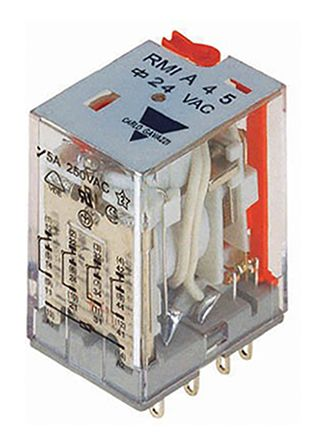Carlo Gavazzi , 230V ac Coil Non-Latching Relay 4PDT, 5A Switching Current Plug In