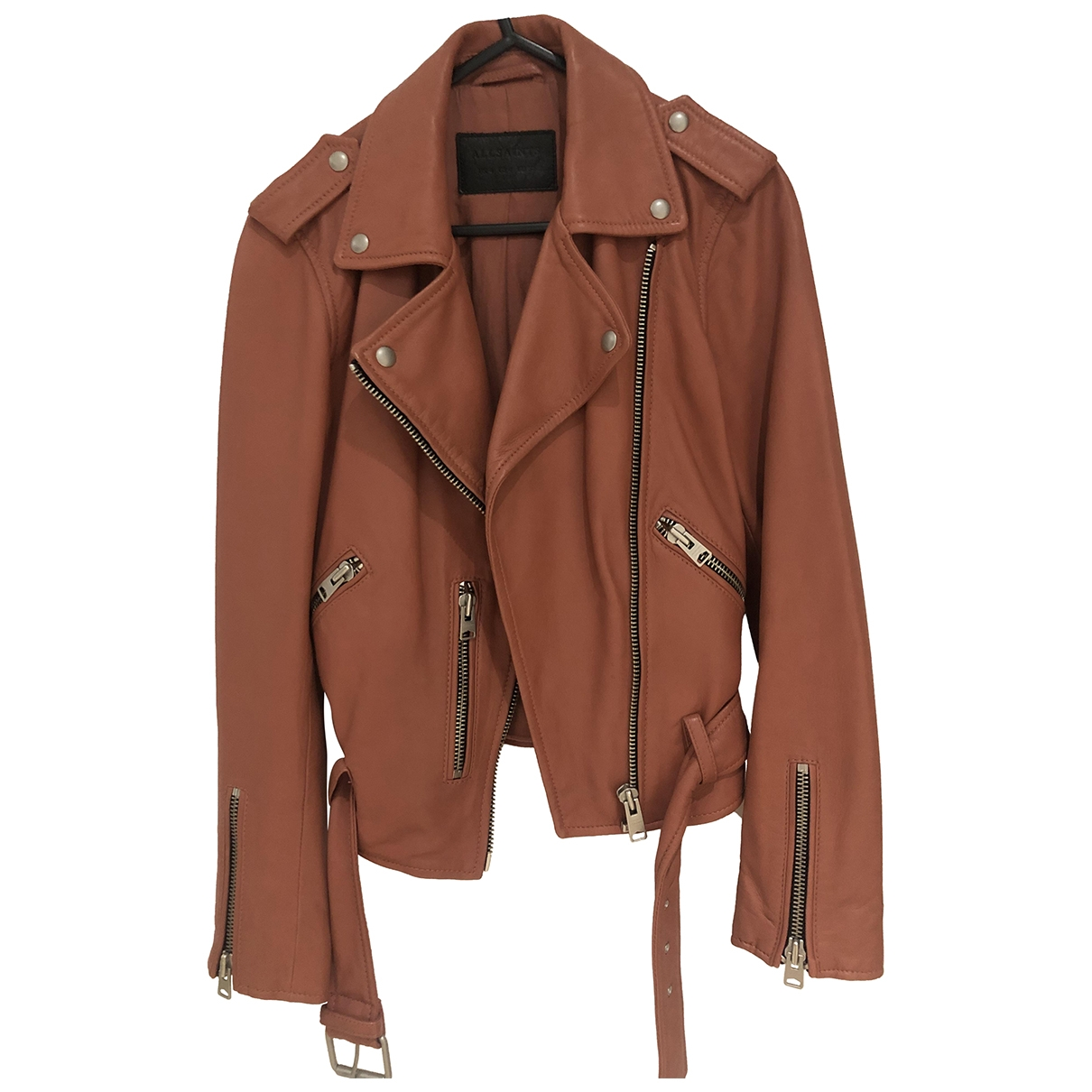 All Saints \N Leather jacket for Women 4 UK