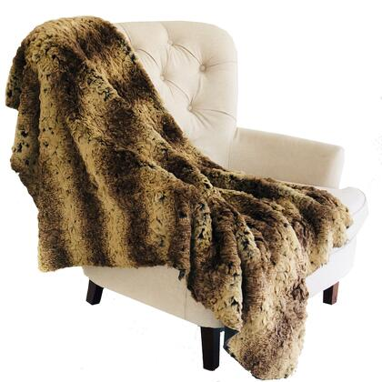 Beige and Brown Collection PBSF1504-102x116 102L x 116W California King Chinchilla Faux Fur Luxury