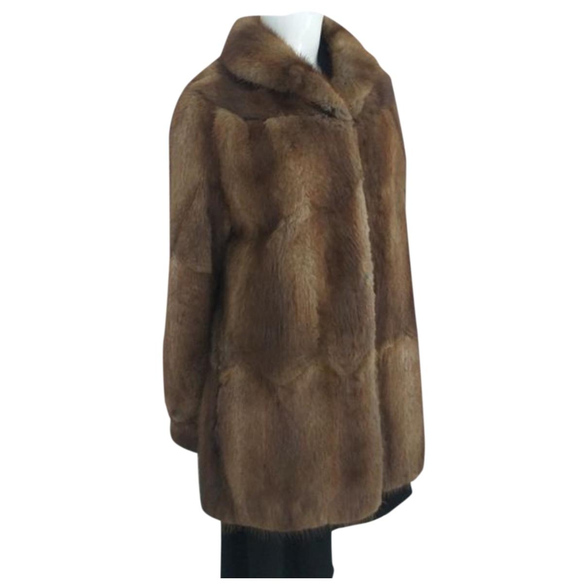 - Veste   pour femme en fourrure - marron