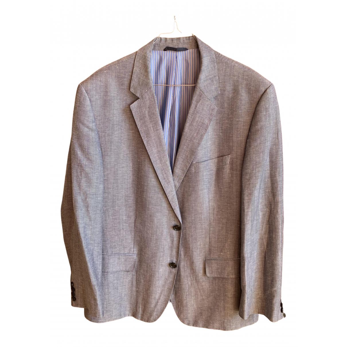 Boss \N Blue Linen Suits for Men 56 FR