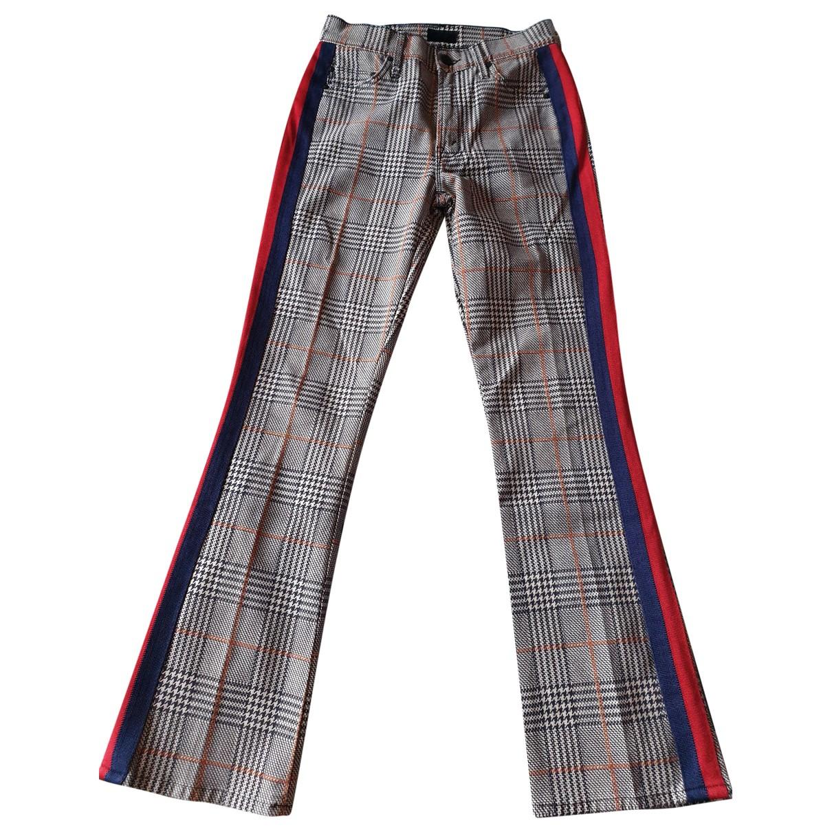 M\N Beige Cotton - elasthane Jeans for Women 24 US