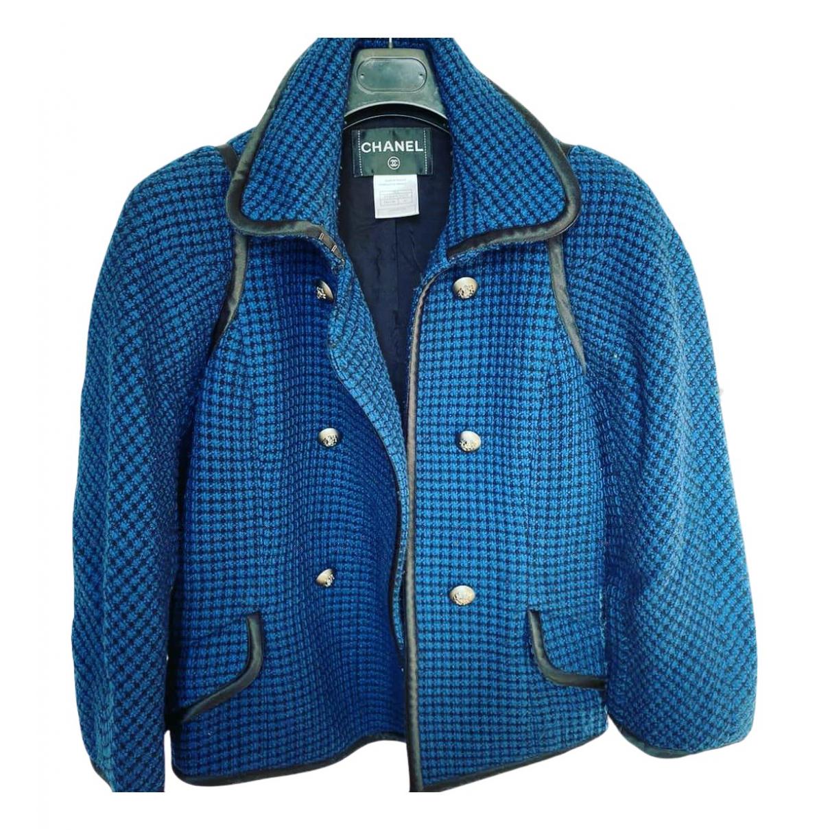 Chanel N Blue Wool jacket for Women 42 IT