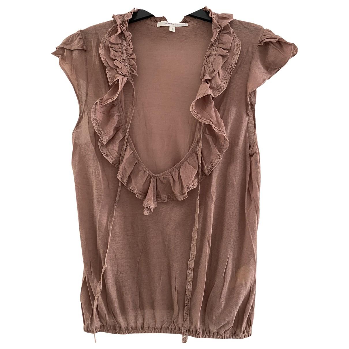Vanessa Bruno - Top   pour femme en coton - marron