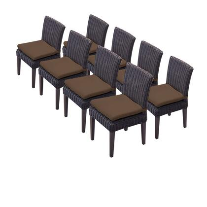 TKC094b-ADC-4x-C-COCOA 8 Venice Armless Dining Chairs with 2 Covers: Wheat and