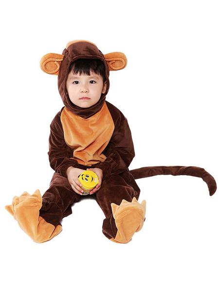 Milanoo Kigurumi Pajamas Kid\'s Monkey Jumpsuit Shoes Cover