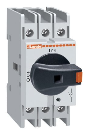 Lovato 3 Pole DIN Rail Non Fused Isolator Switch - 32 A Maximum Current, 22 kW Power Rating, IP65