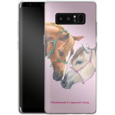 Samsung Galaxy Note 8 Silikon Handyhuelle - Pferdefreunde Freundschaft von Pferdefreunde