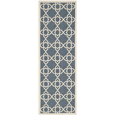 Safavieh Courtyard Collection Nicol Geometric Indoor/Outdoor Runner Rug, One Size , Multiple Colors