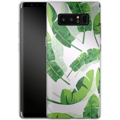 Samsung Galaxy Note 8 Silikon Handyhuelle - Banana Leaf von Mukta Lata Barua