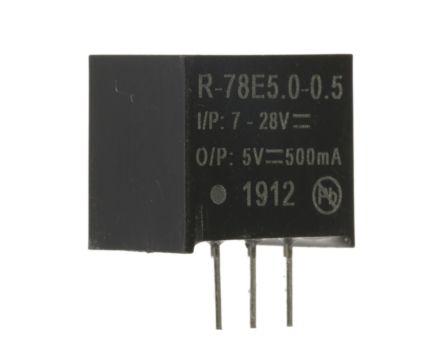 Recom Through Hole Switching Regulator, 5V dc Output Voltage, 7 → 28V dc Input Voltage, 500mA Output Current