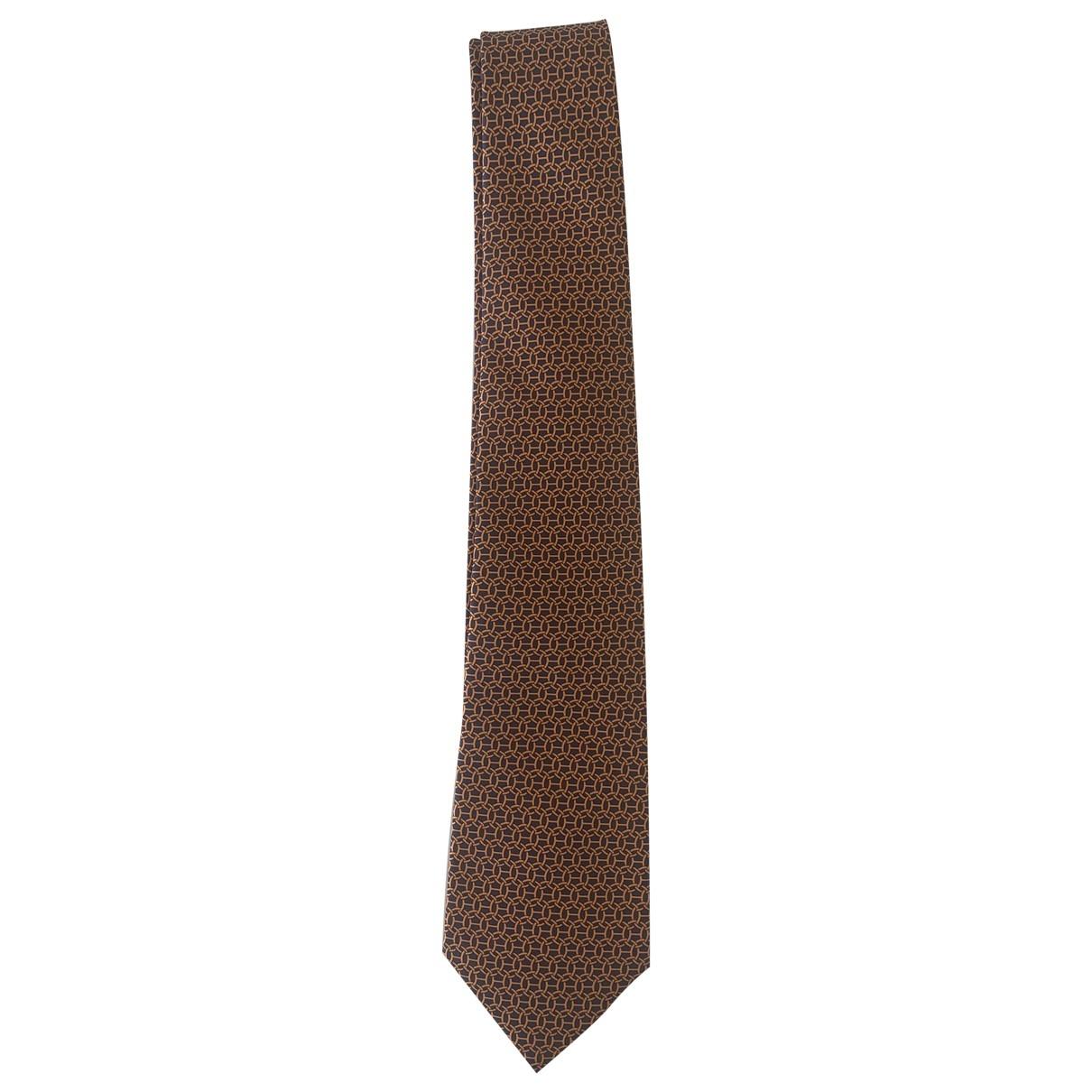 Hermès \N Orange Silk Ties for Men \N