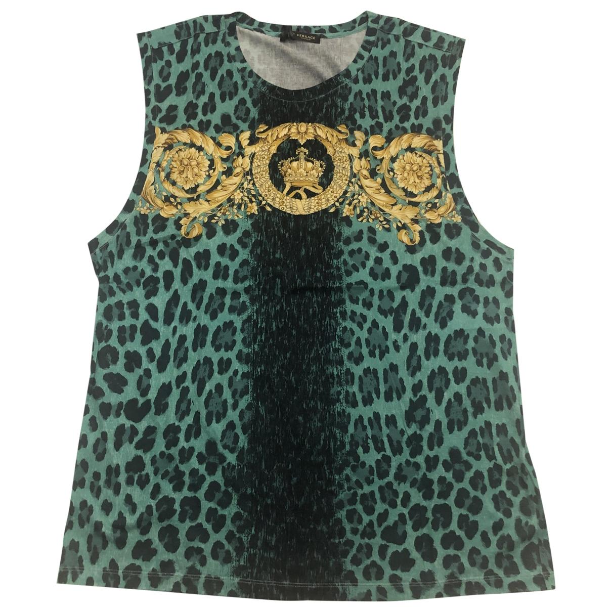 Gianni Versace \N T-Shirts in  Gruen Baumwolle