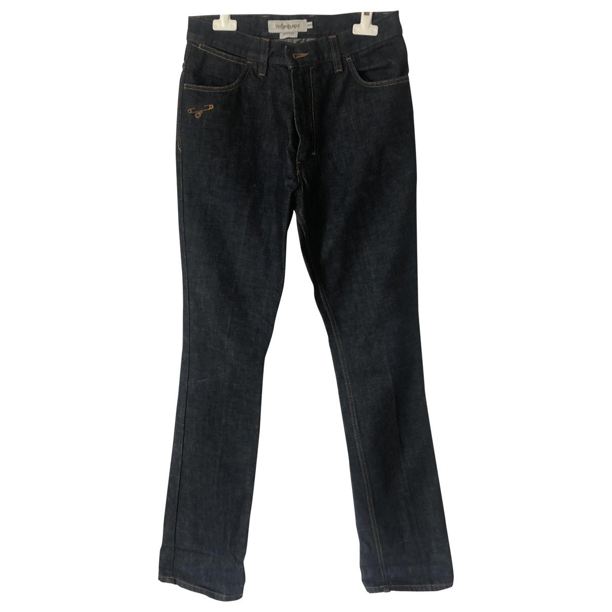 Yves Saint Laurent \N Blue Cotton Jeans for Men 44 FR
