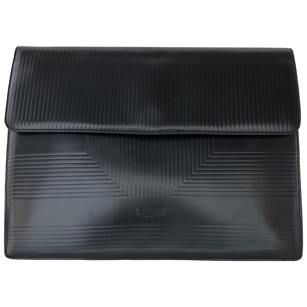 Lanvin - Pochette   pour femme en cuir - noir