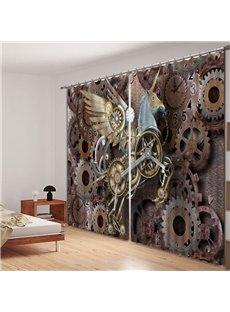 Designer Flying Unicorn Polyester Printing 3D Curtain
